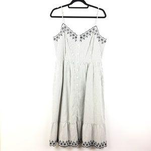 efa13b3585a Madewell Dresses - Madewell Embroidered Jardin Midi Dress Sz 12 168